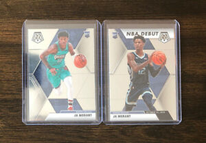 2020-Panini-Mosaic-Ja-Morant-Rookie-Card-2-Card-Lot-RC-Grizzlies