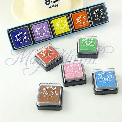 5 Color DIY Washable Kids Foam Ink Stamp Pad Set Inkpad Child-safe