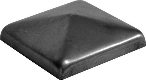 10x carré meneaux Capuchon en acier cache Zaunkappe meneaux Couvercle 60x60mm