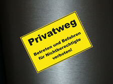 1 x Aufkleber Privatweg Vosicht Warnschild Warnung Sticker Autoaufkleber Fun Gag