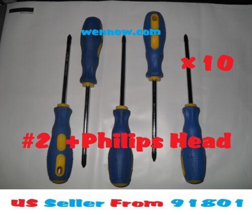 "10x  #2x4/"" Screwdriver Phillips Chrome Vanadium Head"