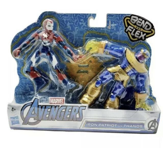 MARVEL Iron Patriot vs Thanos Marvel Avengers Bend /& Flex HTF New