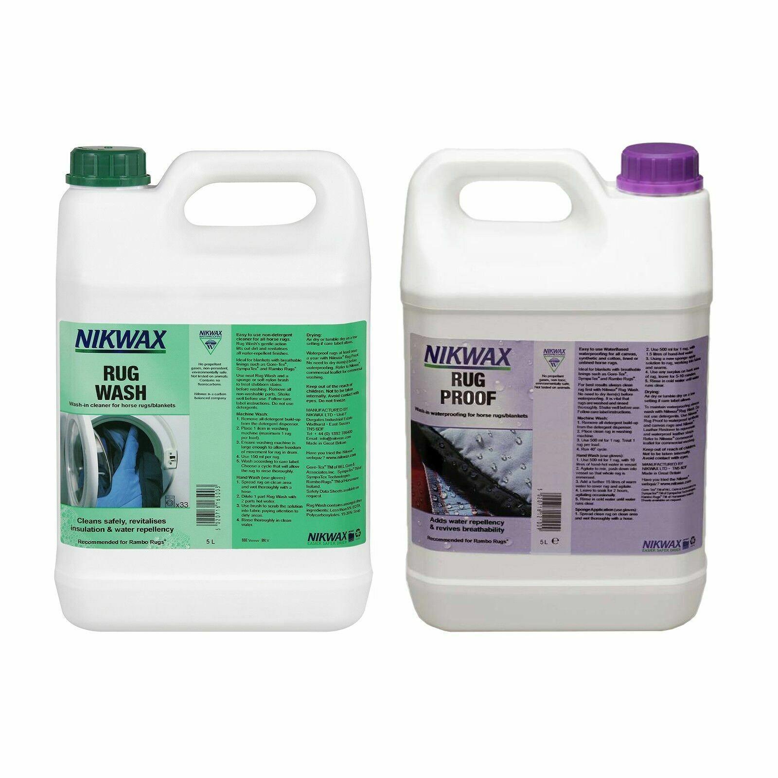 Nikwax Teppich Wasch & Beweis 5 Liter Doppel Packung Imprägnierung Tier Läufer &