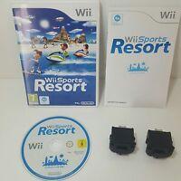 Wii Sports Resort + 2 Genuine Black Nintendo motion plus Dongle add ons