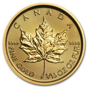 Piece-or-5-dollars-Canada-Maple-Leaf-1-10-d-039-once-d-039-or-1-10-oz-gold-coin