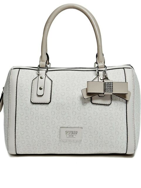 1f29201b407 AUTHENTIC NEW Guess Handbag Purse SATCHEL BAG logo g beige