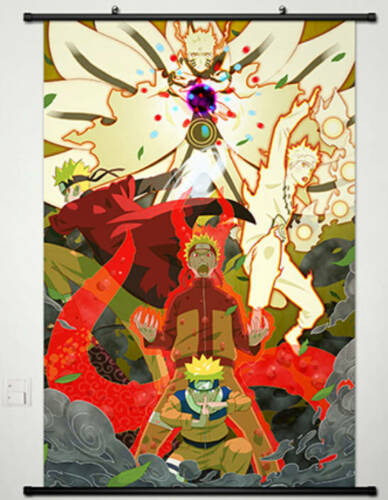 Naruto Uzumaki Naruto Fabric Anime Home Decor Poster Wall Scroll 60*90cm