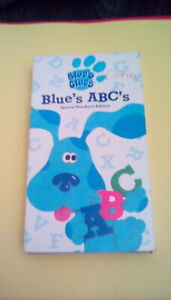 Blue-039-s-Clues-Blue-039-s-ABC-039-s-TEACHER-039-S-EDITION-rare-Nickelodeon-Nick-Jr-VHS-OOP