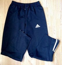 MENS BLACK ADIDAS GYM SPORS SWEATPANTS VINTAGE RETRO GRUNGE JOGGERS 32/34