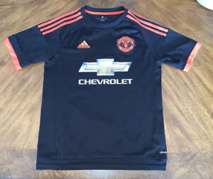 Details about ADIDAS Youth XL Soccer Jersey Boys Away Kit NWOT Manchester United Neon & Black