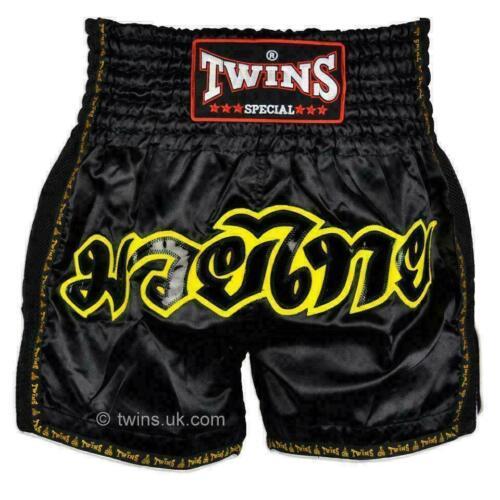 TWINS SPECIAL MUAY THAI Boxe Pantaloncini Nero Retro-TWS-913