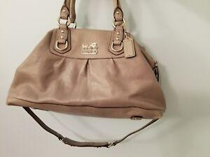 58c8ef9c08 Image is loading Coach-Madison-Gray-Leather-Sabrina-Satchel-Handbag-12949