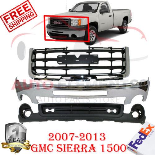 Steel Crew Cab Pickup Front Bumper For 2007-2013 GMC Sierra 1500