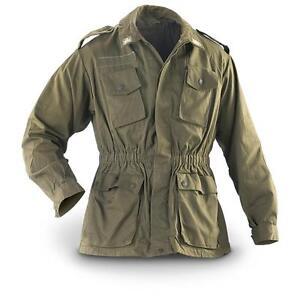 Italian Genuine Vintage Army Shirt Field Jacket green olive G1/G2