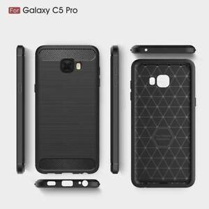 Pour-Samsung-Galaxy-C5-C7-C9-Pro-Antichoc-Carbone-Silicone-Etonnant-Housse-Etui