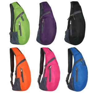 Men-039-s-Nylon-Crossbody-Shoulder-Bags-Chest-Cycle-Sling-Pack-Daily-Travel-Backpack