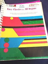 Organ Piano Electronic Keyboard Song Book Easy Classics for All Organs No. 59