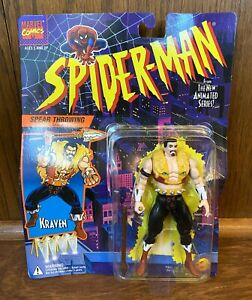 Kraven-Vintage-Spiderman-Animated-Series-Action-Figure-New-1994-Toybiz-Marvel