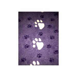 Dos en caoutchouc antidérapant violet / blanc Big Paw, literie vétérinaire lavable à la machine
