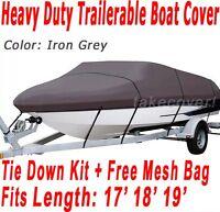 Crestliner Fish Hawk 1750 Trailerable Boat Cover