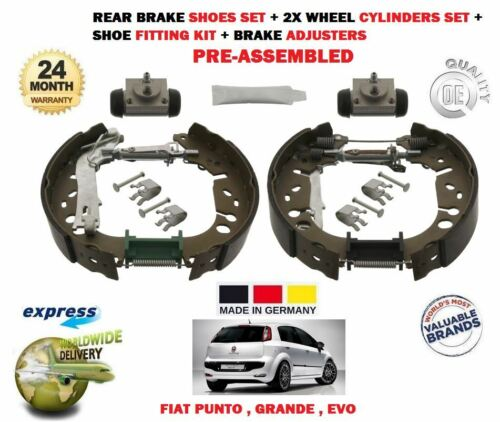 AJDUSTERS WHEEL CYLINDERS FOR FIAT GRANDE EVO PUNTO 2005-/> REAR BRAKE SHOES