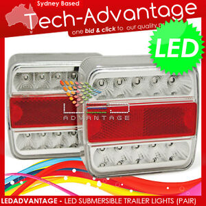 12V WATERPROOF SUBMERSIBLE LED TRAILER LIGHTS STOP/INDICATOR/TAIL/LICENSE PLATE