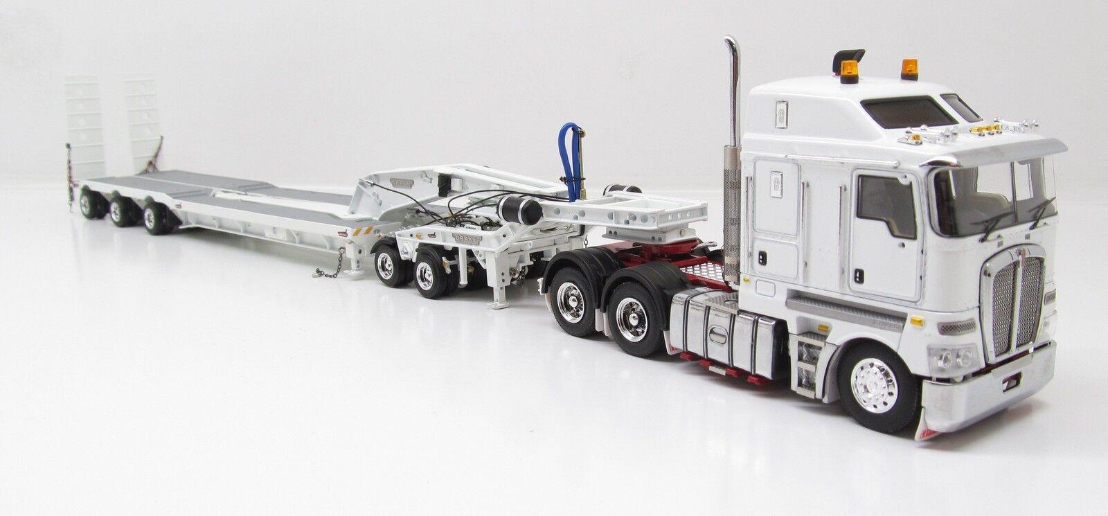 KENWORTH K200 Avec Drake Trailer -  BLANC  - 1 50 - TWH  113-T09012A