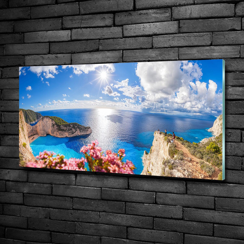 Vetro-Immagine Parete immagini Stampa su vetro 100x50 Decorazione paesaggi Zakynthos