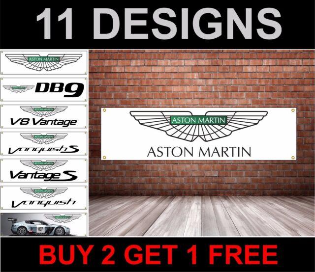 Aston Martin Drapeau Atelier, Garage, Mécanique,Mécanique, PVC Signe Bannière