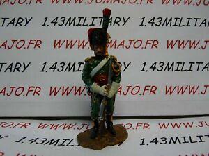 JJ2B-SOLDAT-plomb-TRICICLO-1-32-EMPIRE-chasseur-cheval-de-la-garde-Imperial-1812