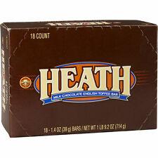 18 HEATH ENGLISH TOFFEE CHOCOLATE COVERED CANDY BARS