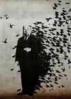 "BANKSY STREET ART CANVAS PRINT Hitchcock The Birds 8""X 12"" stencil poster"