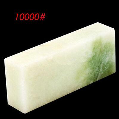 10000# Natural Jade-green Sharpener Grit Fine Stone Whetstone Oilstone Polishing