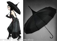 Restyle Gothic Lolita Regen Schirm Black Victorian Umbrella Parasol Witch Pagode