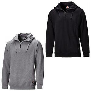 Dickies-Elmwood-Hoody-Mens-Hooded-1-4-Zip-Work-Sweatshirt-Jumper-SH11900
