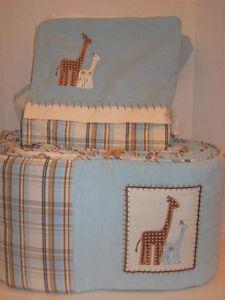 Bananafish Baby Noah Bedding Crib Skirt And Bumper Giraffe