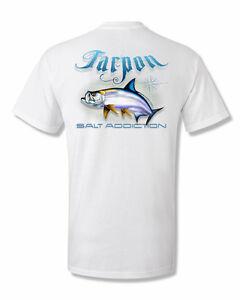 Salt Addiction Saltwater fishing t shirt tuna life reel ocean deep sea fish
