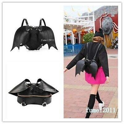 Gothic Black Bat Heart Backpack wings goth punk lace lolita visual kei bag wing