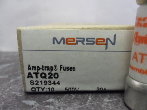 New Lot Mersen Shawmut ATQ20 20 Amp Fuses Bussmann FNQ-20 Time Delay 500 Vac NIB