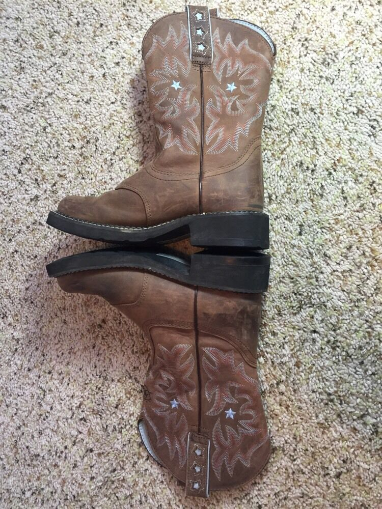 Ariat Boots 6.5 Womem's Brown Leather  6.5 Boots B Kd1 9f9637