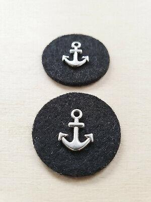 Edelstahl Anker Anhänger für Ketten ♥ Maritimer Schmuck ♥ Deko Charms Silber