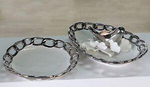 exclusif-deco-Bol-de-fruits-chaine-ceramique-blanc-argent-diametre-29-cm