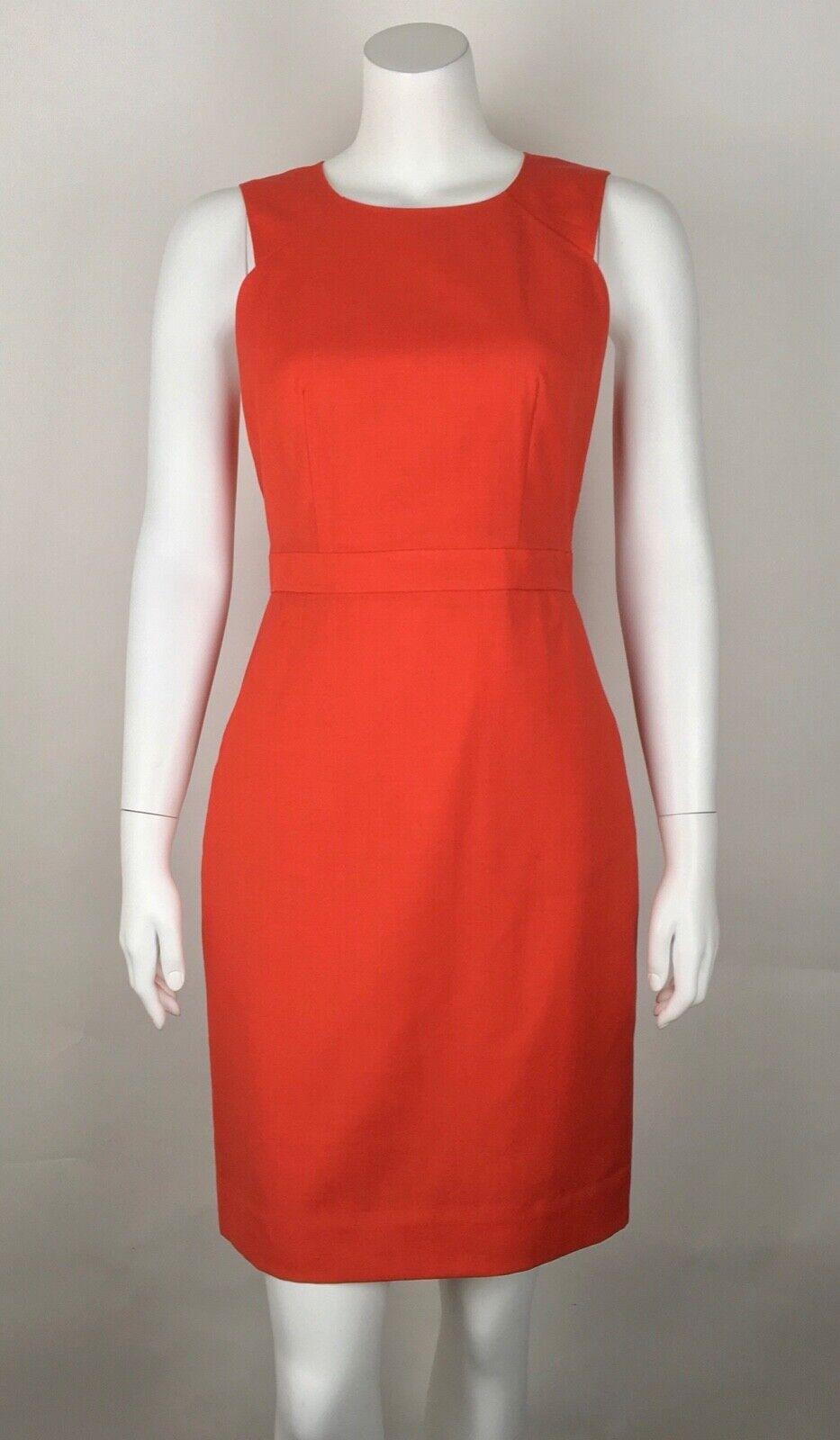 J.Crew damen's Suiting Dress 100% Wool rot 2 Work Career Pockets Sleeveless