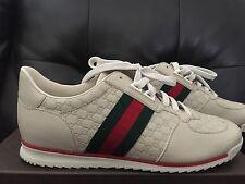 NIB New Gucci GG Guccissima Monogram Nude Leather Fashion Sneaker Shoes 39.5 9.5