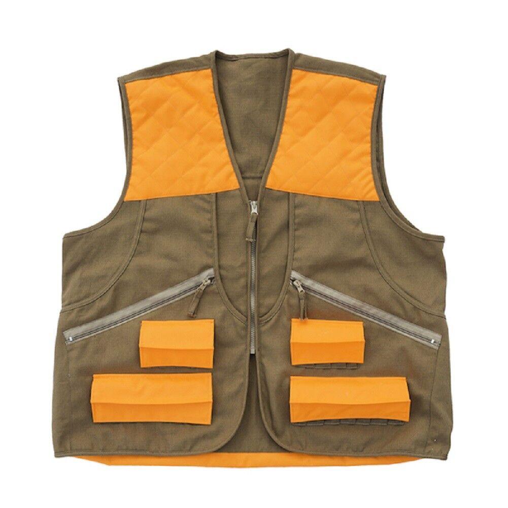 Allen Springer Upland Hunting Vest Brown orange CHOOSE YOUR SIZE