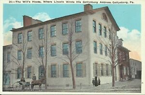 Gettysburg-Pennsylvania-The-Wills-House-1915-Postcard