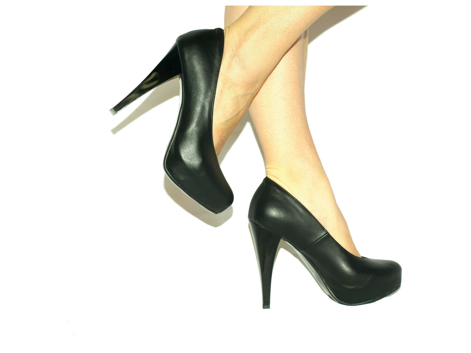 PROMOTION     BOOTS LEATHER100% EXCLUSIVE FETISH  SIZE 4-12  HEEL 14CM