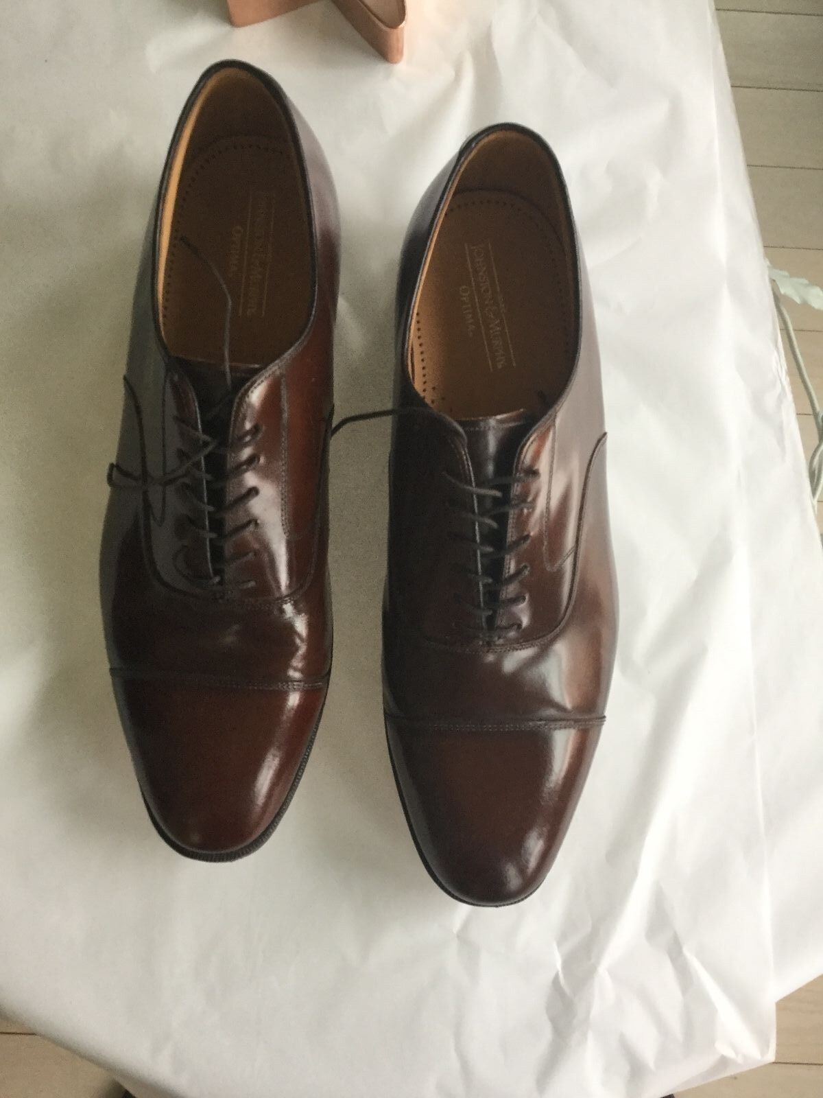 EXCELLENT COND Johnston & Murphy Brown Leather Optima Laceup Oxfords - 13D
