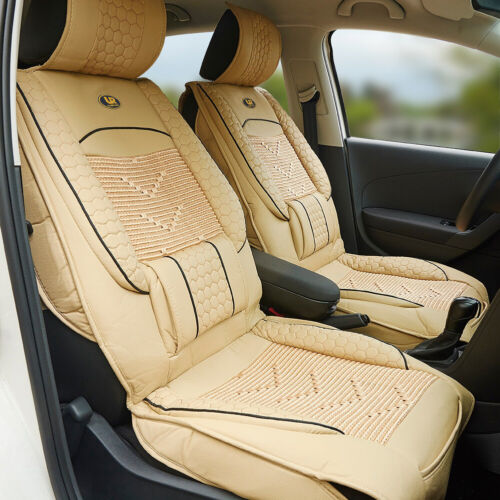 1Pcs Leather Vehicle Front Seat Cover Waist Protector Back Support Cushion