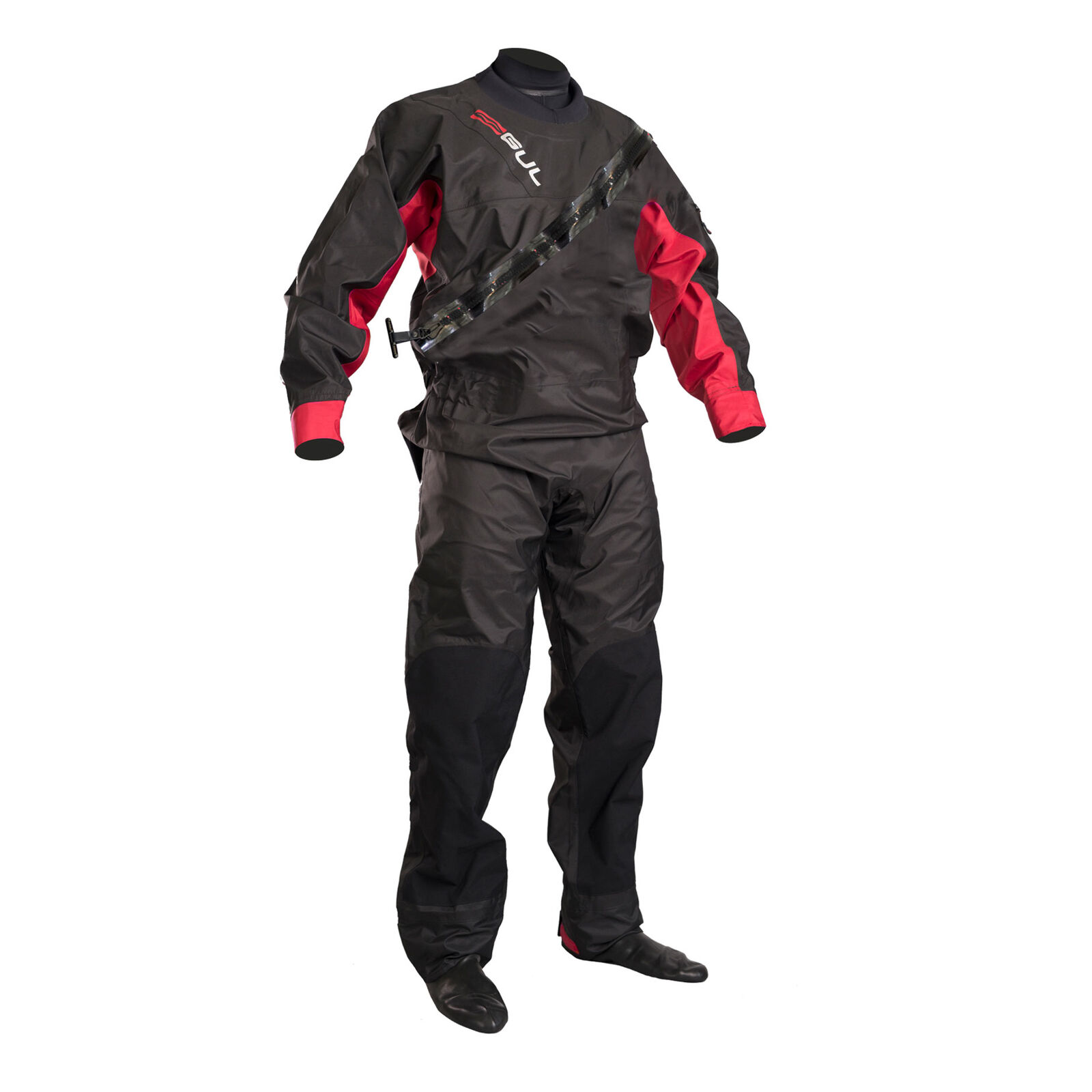 Gul Dartmouth Eclip  Chest Zip Drysuit 2019 - BK RD- FREE THERMAL SUIT  not to be missed!
